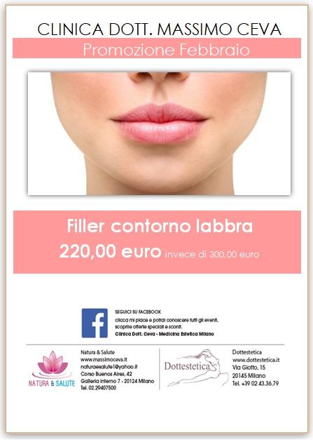 Promozione Febbraio: Filler contorno labbra -28%
